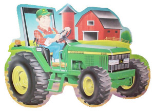 cartoon_tractor_rectangle_sticker